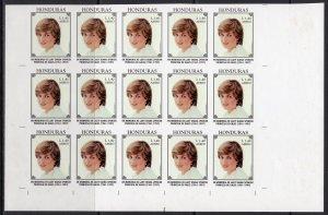 Honduras 1997 Sc#C1011/1012  Diana Princess/Mother Teresa BLOCK OF 15 IMPERF.MNH