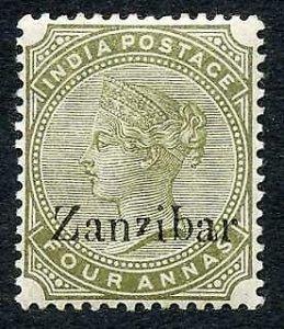 Zanzibar SG11 4a olive-green Second Z Gothic M/M cat 80 pounds