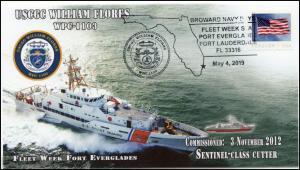 19-083, 2019, USCGC William Flores, Pictorial Postmark, Event Cover, Coast Guard