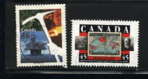 Canada #1721-22    -2   used VF  1998 PD