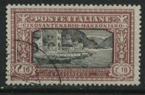 Italy 1923 Manzoni 10 centemisi used