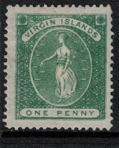 Virgin Island SC 9 Mint 1867-1870 SCV$ 95.00