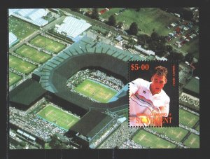 Saint Vincent and the Grenadines. 1988. bl10. Tennis. MNH.