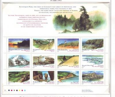 Canada Sc 1483a 1993 Parks Canada Day stamp sheet mint NH