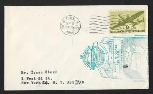UNITED STATES Event Cover 25th Anniversary Coast to Coast Air Mail 1945 New York