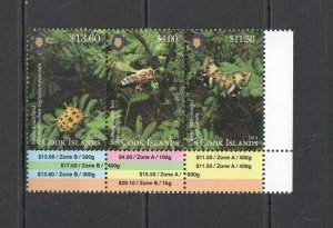 NW0306 2014 COOK ISLANDS FAUNA INSECTS & BUTTERFLIES !!! MICHEL 52 EURO 1SET MNH