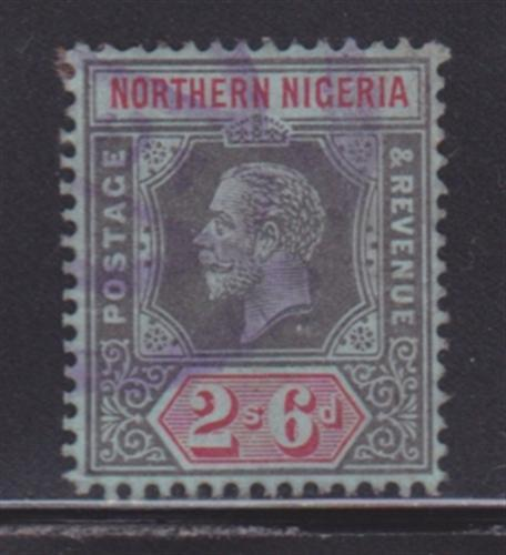 Northern Nigeria 49 VF-used neat cancel nice color scv $ 45 ! see pic !