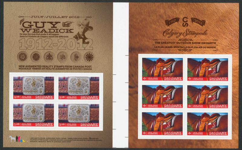 Canada 2548b Gutter Booklet MNH Calgary Stampede, Horse