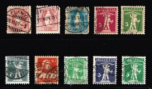 Switzerland Stamp OLD USED STAMP COLLECTION LOT #S1