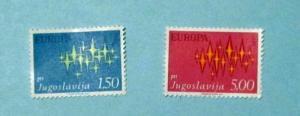 Yugoslavia - 1100-01, MNH Set. Europa. SCV - $1.20