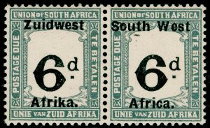 SOUTH WEST AFRICA SG D15, 1923 6d Black & Slate, UNMOUNTED MINT. Cat £50.