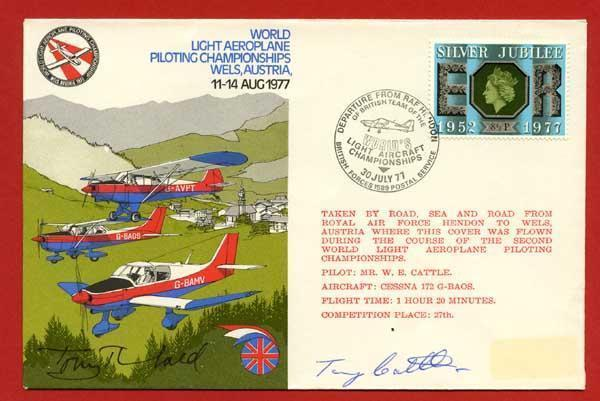 AD33 World Aeroplane Piloting Championships Signed by Tony Theobald