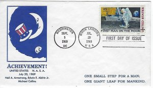 Catalog # C 76 FDC First Day Cover Air Mail Landing on the Moon Space Cover