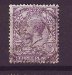 J13824 JLstamps 1912-3 great britain used #164 KGV