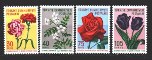Turkey. 1960. 1736-38. Flowers flora. MNH.