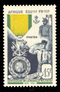 French Equatorial Africa 1952 Scott #186 Mint Never Hinged