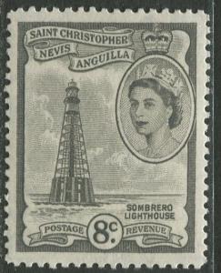 St. KITTS-NEVIS - Scott 127 - QEII Definitives -1954-57 - MNH - Single 8c Stamp
