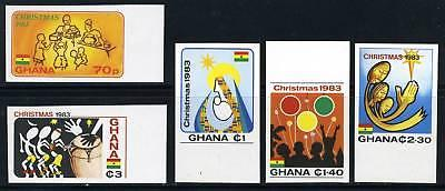 GHANA CHRISTMAS 1983 IMPERFORATED  MINT NH