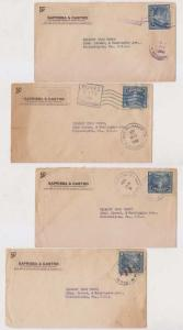 EL SALVADOR 1887-1972 COLLECTION OF 44 LETTERS, CARDS, PS & PPC's F,VF