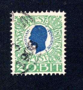 Danish West Indies #33,  F/VF,  Used,   CV $8.75 ....1630030
