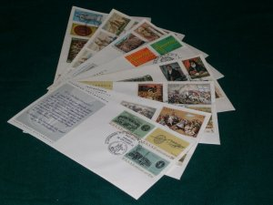 Greece 1971 year set official FDC's.