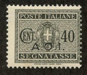 Italian East Africa, Scott #J6, Unused, Hinged