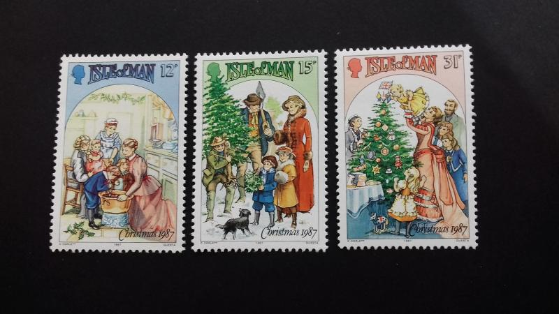 Isle of Man 1987 Christmas stamps Mint