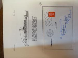 Great Britain SS Oronsay 1970 Paquebot cover (49baz)