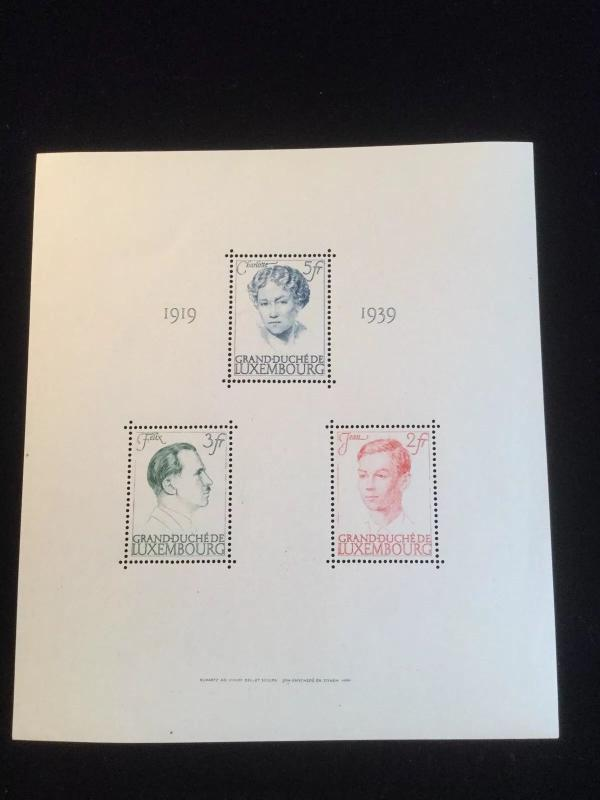 Luxembourg Scott #217 Souvenir Sheet Mint NH