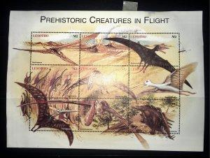 Lesotho 1119 MH Prehistoric Creatures in Flight SS