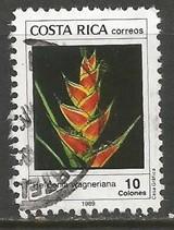 COSTA RICA 411 VFU ORCHID Z1343-4