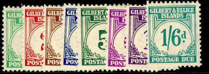 GILBERT & ELLICE ISLANDS SGD1-D8, COMPLETE SET, LH MINT. Cat £180.