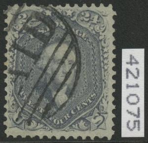 #70b 24¢ 1861 STEEL BLUE VF-XF GEM APP BOSTON PAID CNL W/ PFC CV $1,100 WLM5950