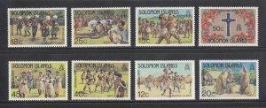 Solomon Islands Scott #502-510 MNH