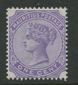 Mauritius - Scott 68 - QV Definitive -1893 - MH - Single 1c Stamp