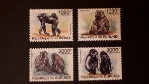 Burundi 2011. - Primates - Monkeys ** MNH complete set (perforated)
