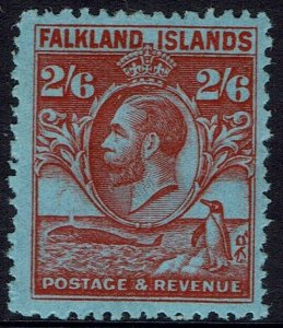 FALKLAND ISLANDS 1929 KGV WHALE AND PENGUIN 2/6
