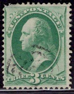 US Stamp #147 3c Green Washington USED SCV $1.80