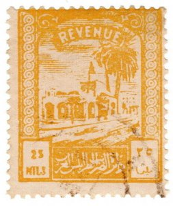 (I.B) BOIC (Tripolitania) Revenue : Duty Stamp 25m (1953)