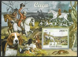 Guinea-Bissau MNH S/S Horses & Hunting Dogs 2011