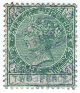 (I.B) Cape of Good Hope Revenue : Stamp Duty 2d (1887)