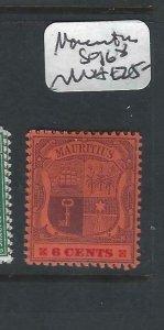 MAURITIUS   (P2306B)  ARMS  6C  SG 168   MNH