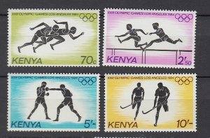 J25742 1984 kenya set mnh #297-300 sports
