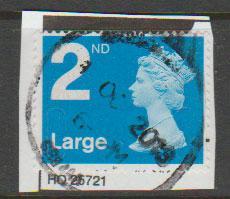 GB QE II Machin SG U2969 - 2nd brt blue -  M12L - Source  B
