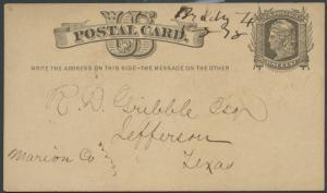 TEXAS MCCULLOCH COUNTY (1878 Brady) Manuscript #389