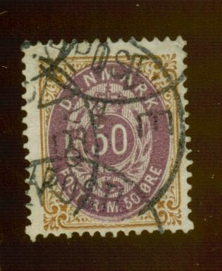 Denmark #33a Used F-VF Cat$175