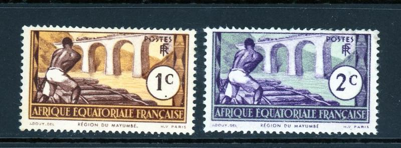 French Equatorial Africa 33-34 Mint (NH)