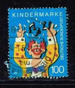 Singing Clown, Michel# 1695 o  stamp of Block 27