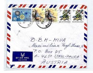 CM243 1992 *BELGIUM* Missionary Air Mail MIVA Austria Cover {samwells-covers}