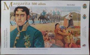 L) 1996 VENEZUELA, MARGARITA 500 YEARS OLD, CONQUER, PEOPLE, BATTLE, BEACH, HORS